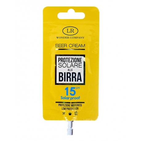 Crema solare alla Birra, protezione 15 in bustina BEER CREAM POCKET SPF 15 - LR Wonder