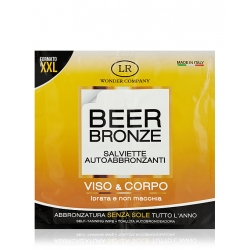 Salviette autoabbronzanti alla birra BEER BRONZE - LR Wonder