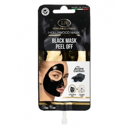 Maschera viso al carbone peel-off in bustina HOLLYWOOD BLACK MASK - LR Wonder